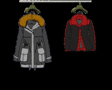 Abrigo y chaqueta